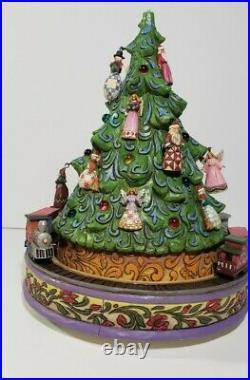Jim Shore All Aboard For Christmas Joy 4009111 Tree Train Musical Light Up RARE