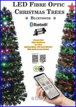 LED Fibre Optic Smart Christmas Tree Bluetooth Xmas Home Decorations Lights