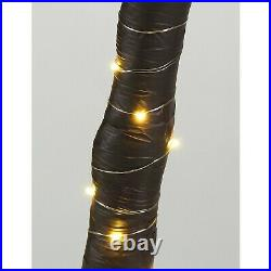 LED Lighted Giant Artificial Tropical Palm Tree 96 Green Lights Decor Large 7Ft