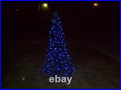 LIGHT O RAMA 5ft pre-lit led 210ct blue 5mm folded flat christmas tree