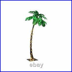 Lightshare New Lighted Palm Tree Large ZLS7FT 96 LED 7 Feet Home Garden Decor