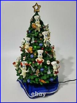 MIB 2002 Danbury Mint Pillsbury Doughboy Lighted Christmas Tree