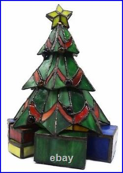 Meyda Tiffany Christmas Tree Accent Lamp with 1 Light 9 Inches Tall 12413