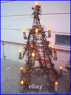 Mid Century Tinsel Christmas Trees Vintage Lights and Mercury Glass Xmas Trees