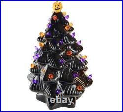 Mr Halloween Ceramic Tree Haunted Black 14 NEW Pumpkin LED Lighted Mr Christmas