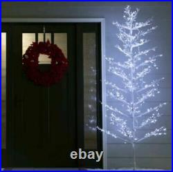 NEW GE 7' Ft Winterberry White Pre-Lit Christmas Holiday Tree 400 LED Lights