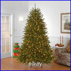 National Tree 7.5 Foot Dunhill Fir Christmas Tree with 750 Clear Lights Hinged