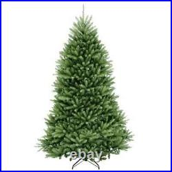 National Tree 7.5 Foot Dunhill Fir Hinged Christmas Tree and Stand (Open Box)