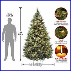 National Tree Carolina Pine Tree with Clear Lights 7.5 Feet