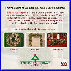 National Tree Company Dunhill Fir 7.5 Foot Christmas Tree with Multicolor Lights