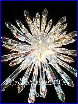 New CHRISTMAS GIANT PRELIT TREE TOPPER STAR STUNNING 50 random sparkle lights