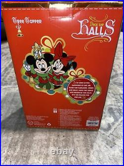 New Disney Store Christmas Deck The Halls Tinkerbell Tree Topper With Lights