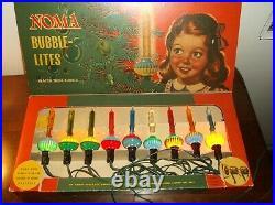 Noma vintage christmas tree bubble lights