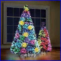 Northern Lights Christmas Tree LED Fiber Optic Tips 23 Pattern 9 Ft