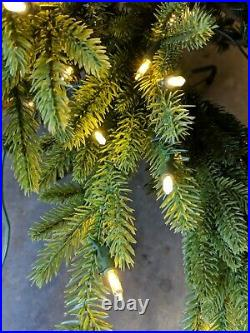 Open Box Balsam Hill Red Spruce Slim 6.5' Tree w Candlelight LED Light Christmas