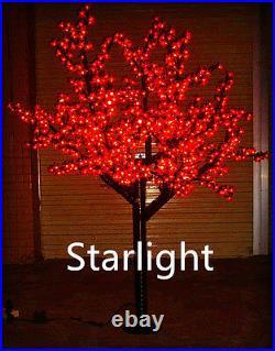 Outdoor 6ft LED Cherry Blossom Tree Christmas Light Garden/Home/Path Decor Red