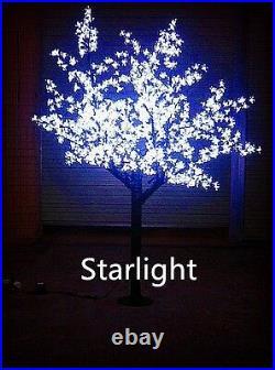 Outdoor LED Christmas Light Cherry Blossom Tree Holiday Decor 864 LEDs 6ft White
