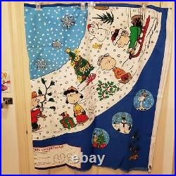 Peanuts A Charlie Brown Christmas 56 Tree Skirt or Tablecloth 2 Fabric Panels