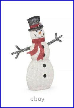 Polar Wishes 72 in. Life Size Christmas Snowman Yard Decoration with LED Lights