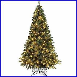 Pre-Lit Christmas Tree 250 Warm White LED Lights Canadian Green Spruce 7FT