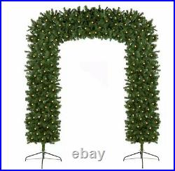 Pre-lit Christmas tree arch with warm white LEDs