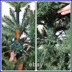 Premium Artificial Christmas Tree 6.5' w 650 LED Light, 1880 Tips, Stand Full Fir