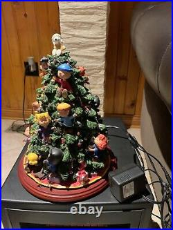 RARE Danbury Mint Peanuts Light Up Christmas Tree Charlie Brown Snoopy