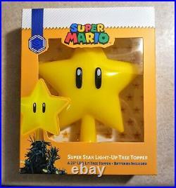RARE NEW Super Mario Light-Up Star Power Christmas Tree Topper FREE SHIPPING