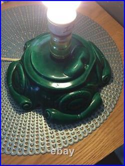 RARE Vintage 24 Flocked, Lighted, Ceramic Christmas Tree Atlantic Mold