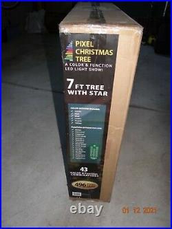 RGB LED 7' Light Show Pixel Christmas Tree with Remote & Timer light show NEW NIB