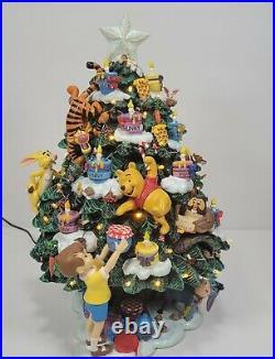 Retired Danbury Mint Winnie the Pooh Lighted Christmas Tree Tigger Disney Works