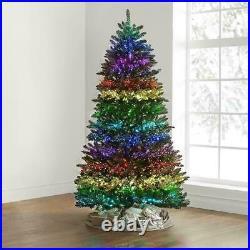 The Light Show Tree 7' fiber optic Christmas tree 23 different LED displays RC