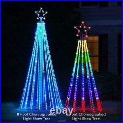 The Star Bright 6' Choreographed Light Show Christmas Tree