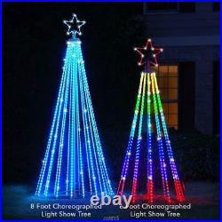 The Star Bright 8' Choreographed Light Show LED Christmas Tree