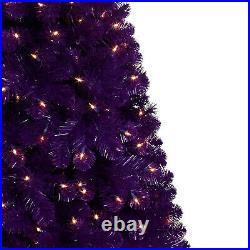 Treetopia Basics Purple 6 Foot Artificial Tree with Clear LED Lights (Open Box)