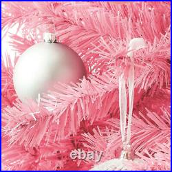 Treetopia Pink 6 Foot Prelit Christmas Tree with Pink Lights and Stand (Used)