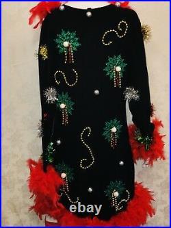 Ugly Christmas Sweater Dress Lights Up Tree