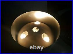 VINTAGE EVERGLEAM TRI-LITE REVOLVING LIGHT STAND ALUMINUM Christmas TREE 4980