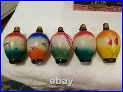VTG 14 WORKING 1950s CHRISTMAS TREE LIGHT BULBS JAPANESE LANTERNS All WORK C9