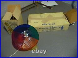 VTG Aluminum Christmas Tree 6-1/2' Foot with Holly Time Color Wheel Light Lot NICE