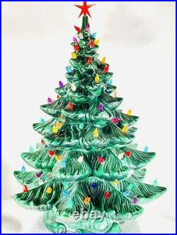 VTG Ceramic Christmas Tree 22 ATLANTIC MOLD Music Eidelweis Magnificent Lights