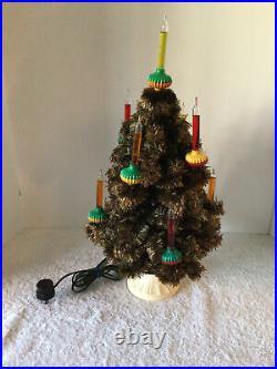 VTG NOMA C-6 Bubble Light Christmas Tree (9) SAUCER LIGHTS TABLE TOP TREE BOX