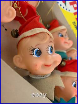 Vintage 10 Lite Pixie Set Christmas Indoor Tree Lights Japan RARE PIXIE ELF HEAD