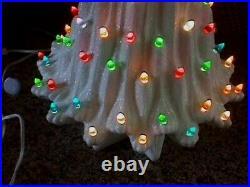 Vintage 18 Atlantic Mold Volcano Lava Ceramic Christmas Tree 2 Sets Lights