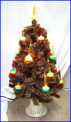 Vintage 18 Light Noma Christmas Bubble Tree #504 28 with stand & box