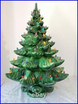 Vintage 1960-70's Ceramic Christmas Tree 22 ATLANTIC MOLD Original 200 lights