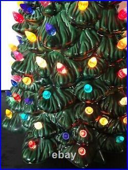 Vintage 20 Holland Mold Lighted Ceramic Christmas Tree