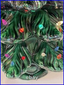 Vintage 26 Atlantic Mold Ceramic 3 Piece Christmas Tree Lights Gorgeous 1974