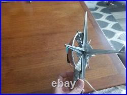 Vintage 50s-60s Star Sputnik Lighted Tree Topper Christmas Tree Light