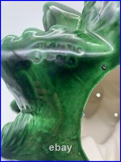 Vintage Atlantic Mold 16 Color Lighted Ceramic Christmas Tree With Scroll Base
